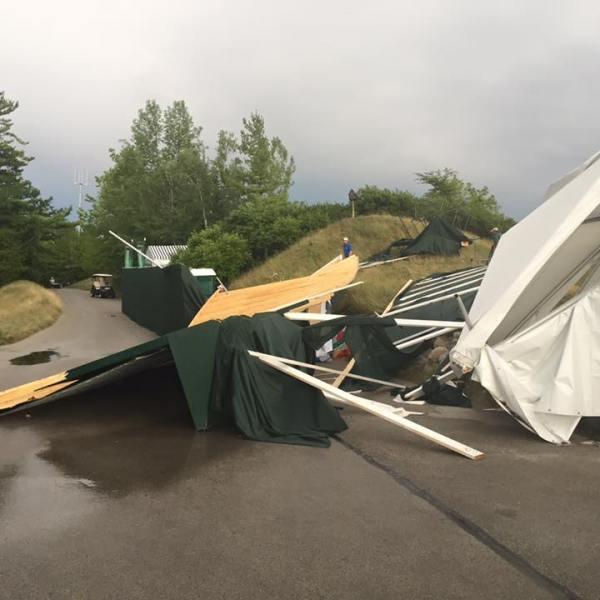Storm damage at the PGA Championship in Kohler