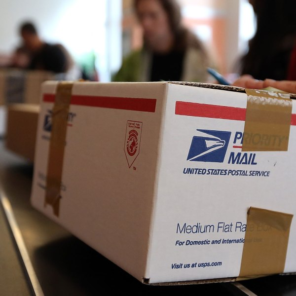 woman mailing package at Post Office41985073-159532