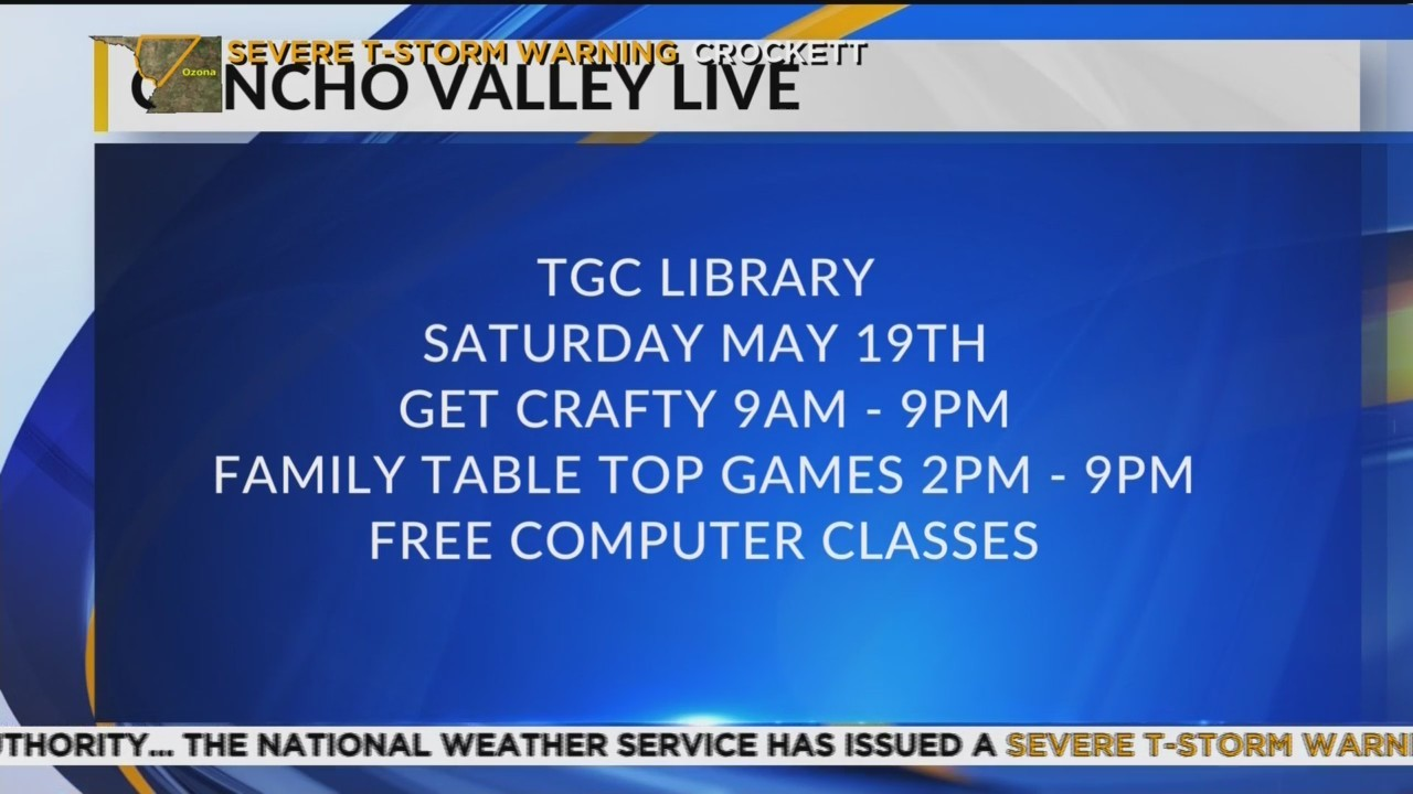 May Events at the Library