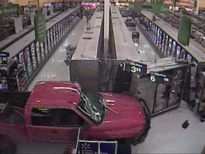 UPDATE: Truck crashes into, drives around inside of, San Angelo Walmart