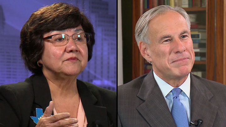 Lupe Valdez and Greg Abbott 720