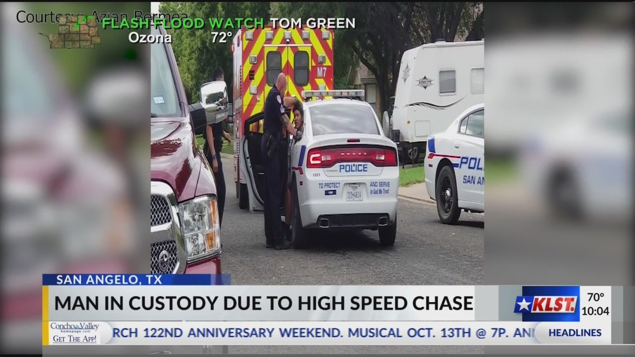Man in custody from high speed chase