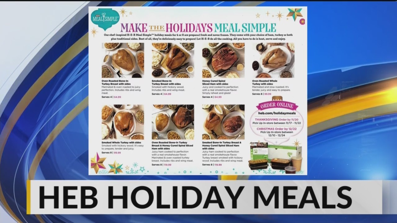HEB Holiday Meals and FREE Curbside and Delivery