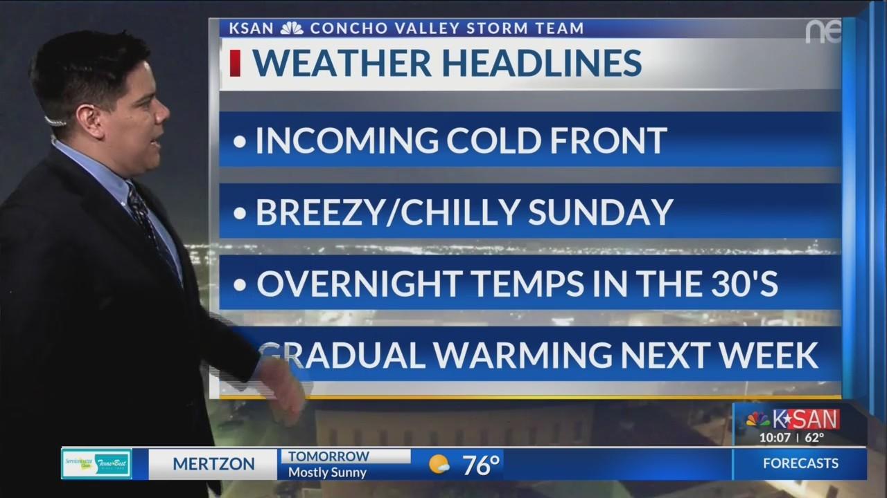KSAN Storm Team Daily Forecast Update - Saturday November 24, 2018