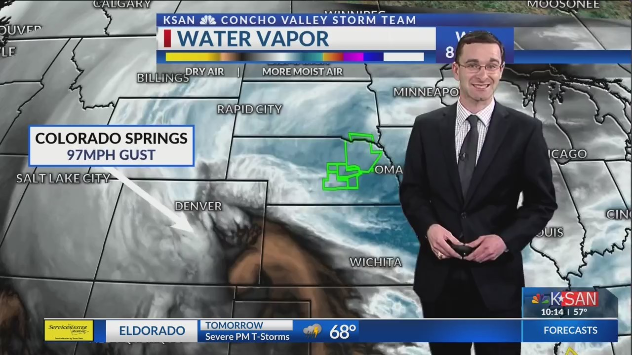 KSAN 10pm Weather - Wednesday March 13, 2019