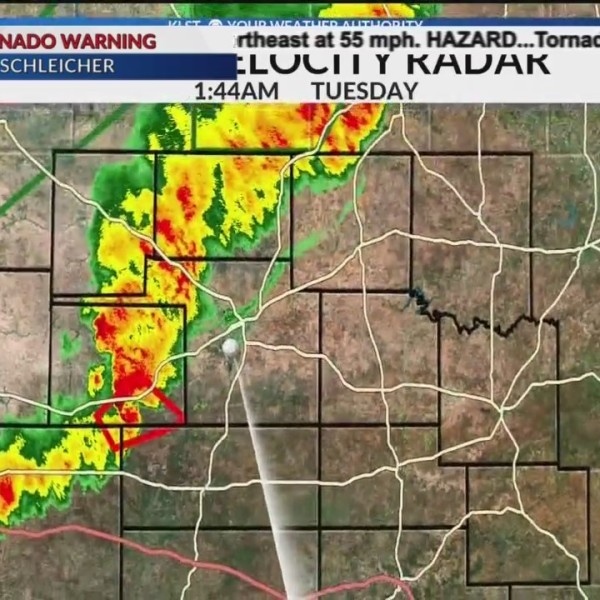 (1:45 a.m.) KLST Chief Meteorologist Noel Rehm tracking storms