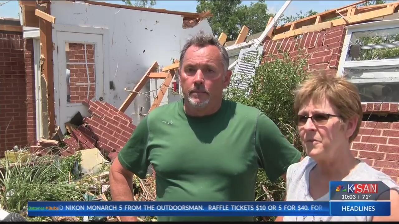 Ballinger couple survives tornado, home destroyed