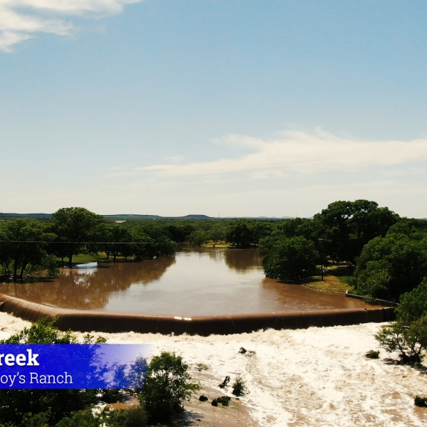 Spring Creek swells, Twin Buttes goes over 70% full
