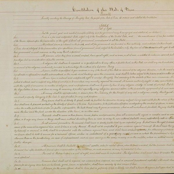 Texas Constitution of 1876