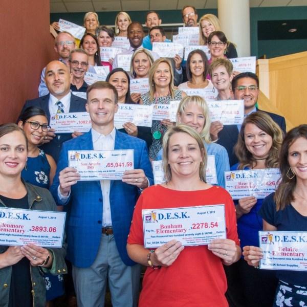 SAISD principals receive over $65 thousand in DESK donations
