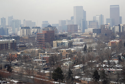 Denver skyline, Denver's polluted skyline