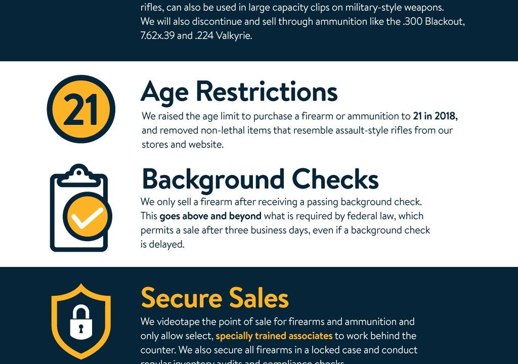 Walmart announces changes in ammunition sales