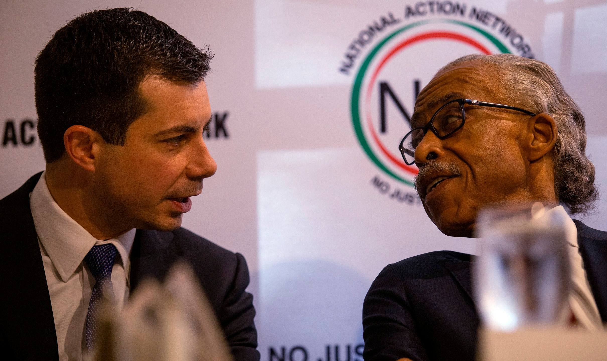Pete Buttigieg, Al Sharpton, Buttigieg speaks at Sharpton event in Atlanta
