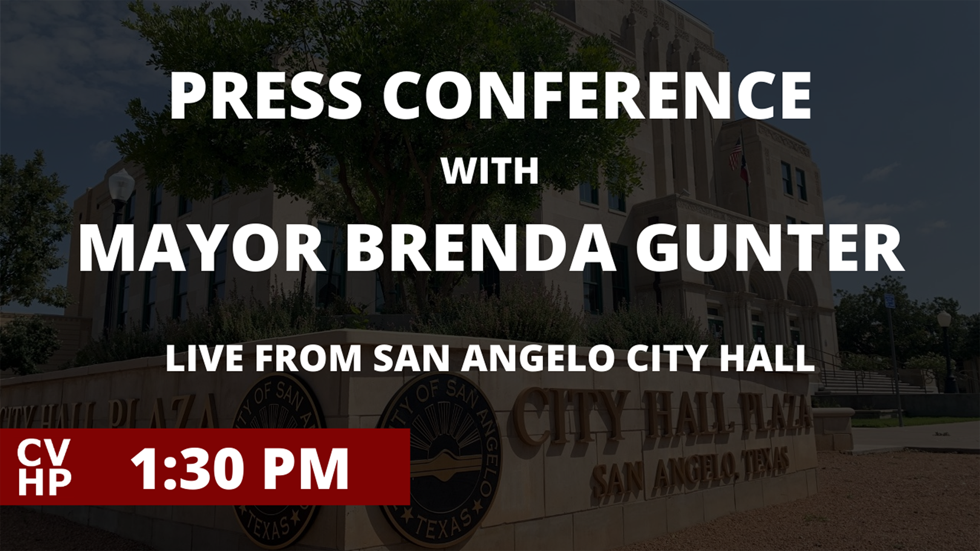 Press conference with Mayor Brenda Gunter - Live from City Hall - 1:30pm, Wednesday, September 23, 2020