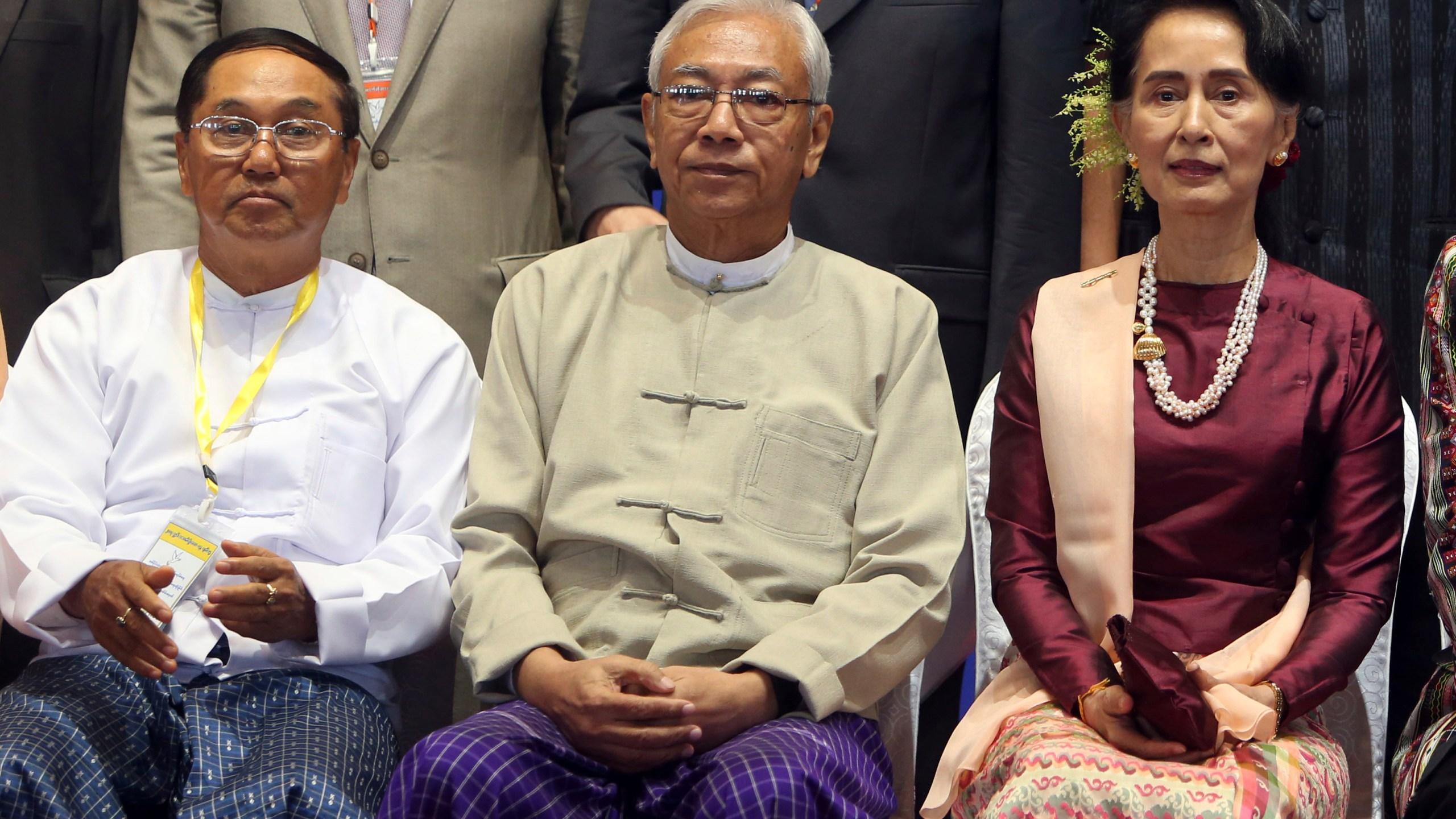 Htin Kyaw, Aung San Suu Kyi, Myint Swe