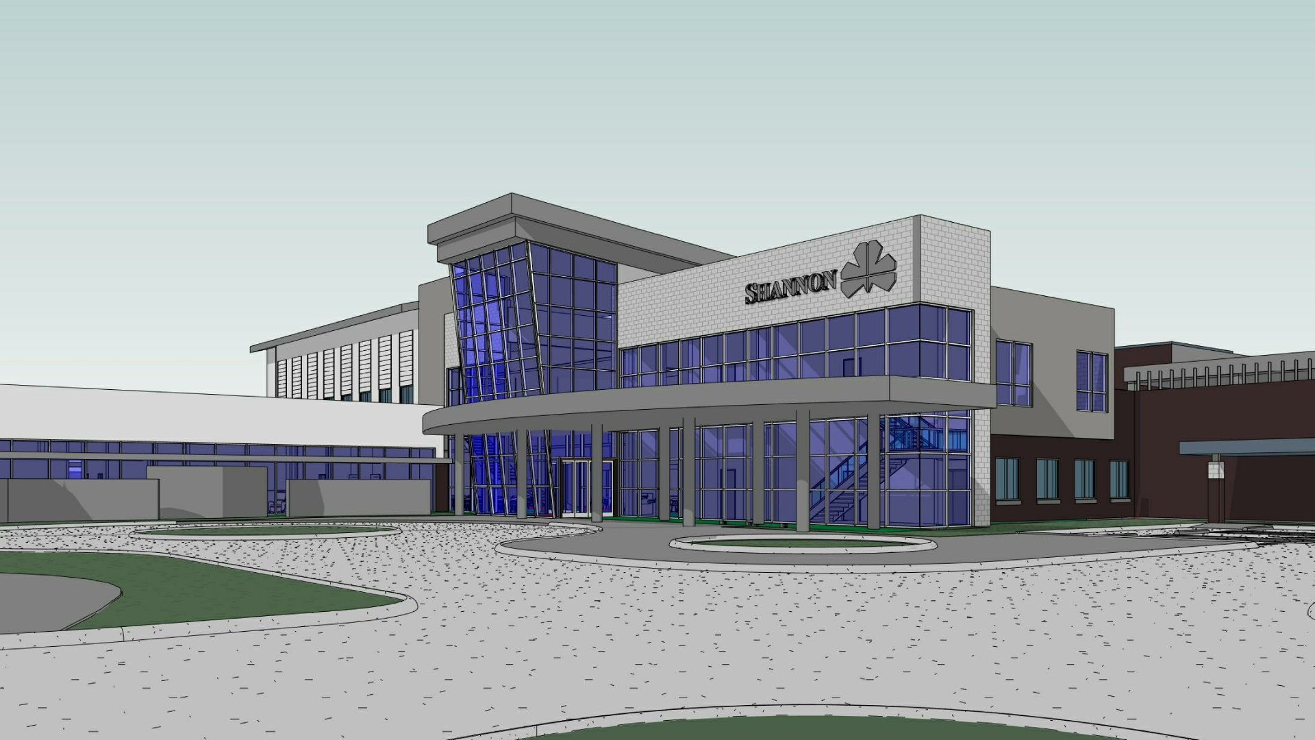 Computer model of upcoming Shannon Cancer Center