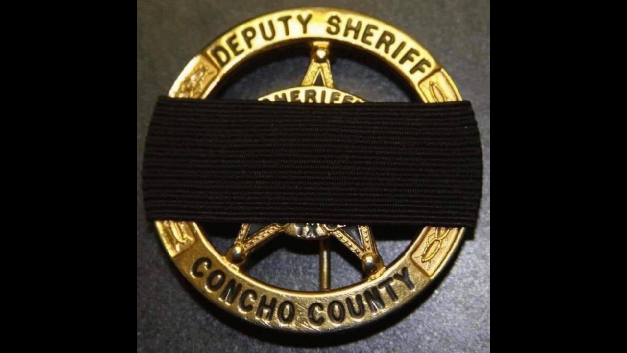 Sheriffs Deputy badge with black band
