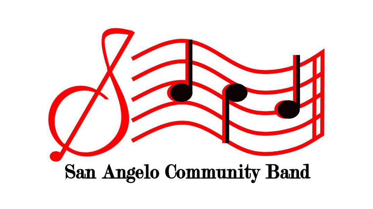 "San Angelo Community Band Logo - a musical staff with notes and the words ""San Angelo Community Band"" underneath"