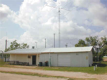 building with a radio antenna