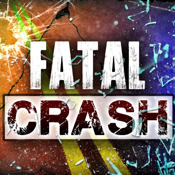 """The words """"FATAL CRASH"""" with broken glass and cracked pavement in the background"""