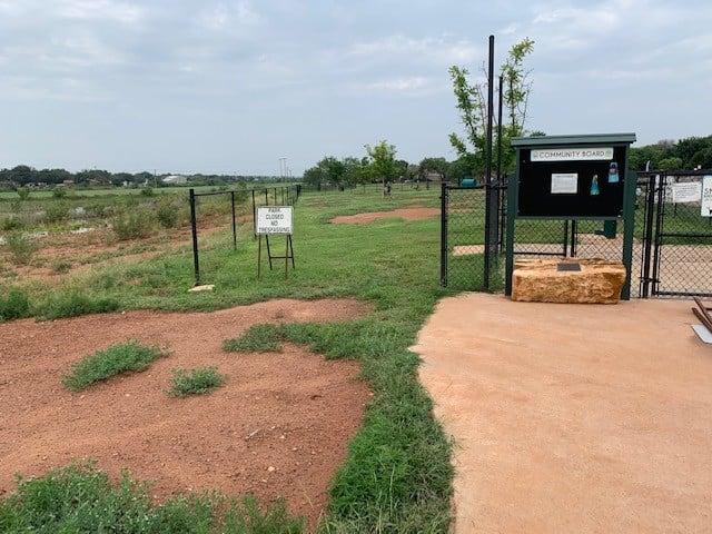 San Angelo dog park without stolen double gates