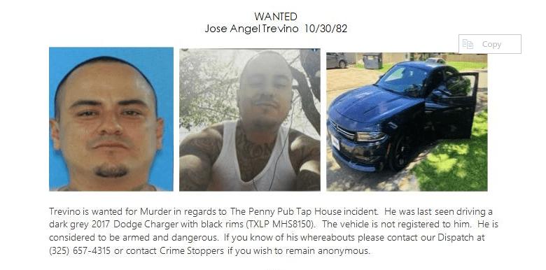 SAPD press release seeking murder suspect, Jose Trevino