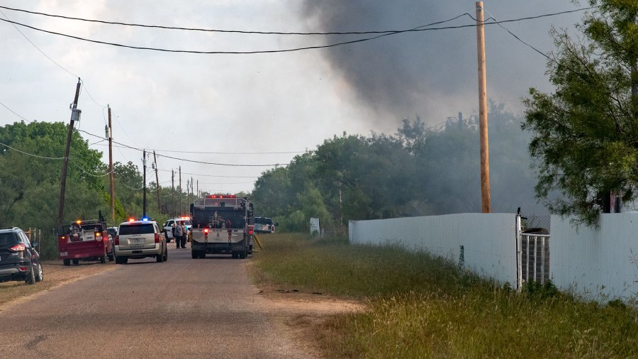 Units from Grape Creek VFD and Quail Valley VFD respond to a structure fire on the 10000 block of Cottontail Lane in Grape Creek