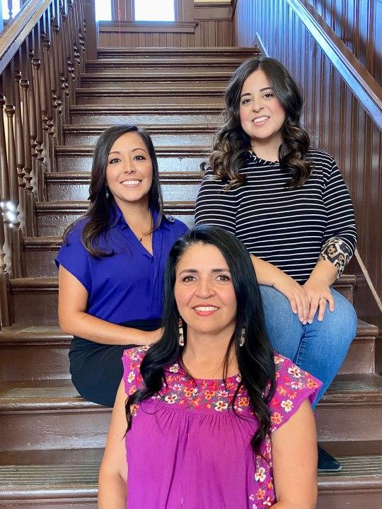 The Railway Museum of San Angelo board of directors, Monica Ramos, Rocio Moncibais, and Suzanna Valenzuela
