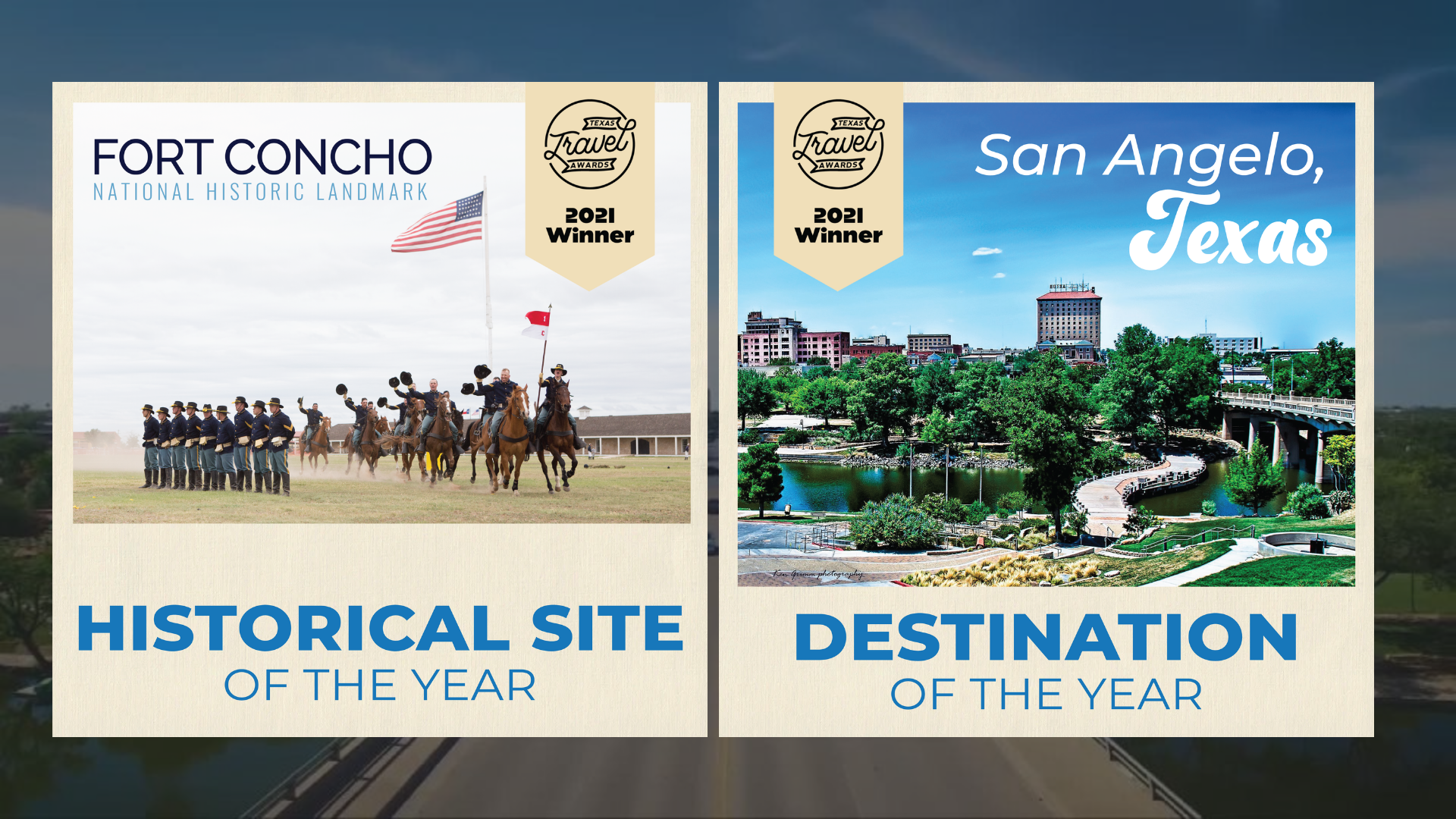 San Angelo awarded Destination of the Year and Fort Concho awarded Historic Site of the Year by Texas Travel